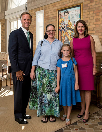 Emma Rose and mother with Gov. Haslam and First Lady Haslam 2017
