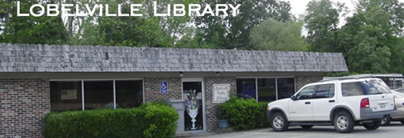 Old Lobelville Library building